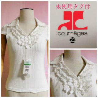Courreges - 【未使用タグ付】クレージュ21☆フリルスキッパー☆8295円