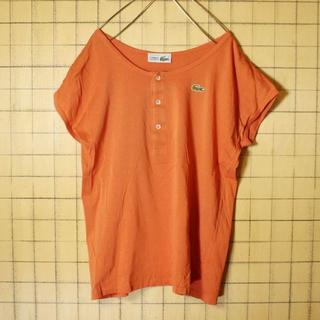 ラコステ(LACOSTE)のフランス製70sフレンチラコステカットソー Tシャツ 半袖XLオレンジss121(Tシャツ(半袖/袖なし))