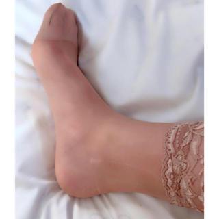 【匿名配送】肌色 靴下型 ストッキング