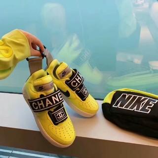 シャネル(CHANEL)のNIKE CHANEL スニーカー ナイキ シューズ カッコイイ 24cm(スニーカー)