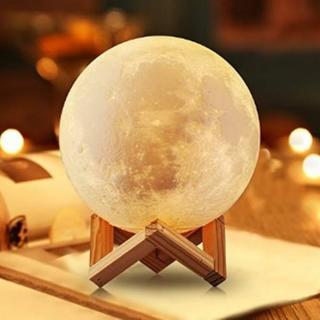 ★即日発送★ 月光 間接照明 月のランプ 15cm USB 台座付き