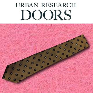 ドアーズ(DOORS / URBAN RESEARCH)の【新品未使用】URBAN RESEARCH DOORS ネクタイ ブラウン 花柄(ネクタイ)