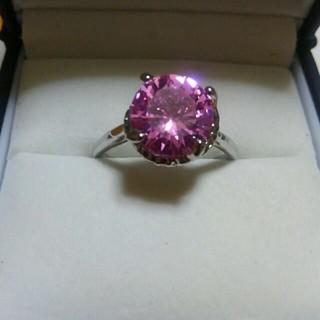 ピンク色の天然石❤19号❤可愛い大粒10㎜リング❤(リング(指輪))