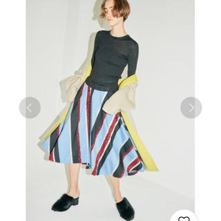 フレイアイディー(FRAY I.D)のFRAY ID モールストライプスカート(ロングスカート)