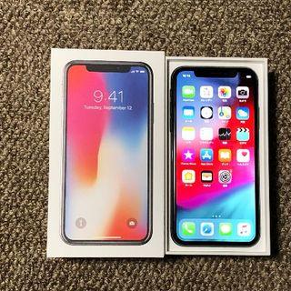 Apple - simフリー iPhoneX 256GB グレー 電池91% 安心の判定○