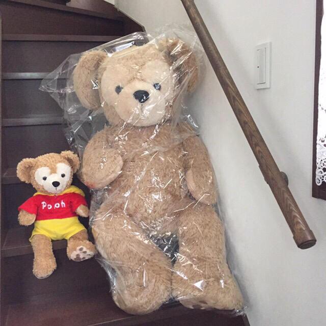 ダッフィー(ダッフィー)の【送料込】Duffy ダッフィー  特大 ぬいぐるみ 旧LLサイズ 希少 エンタメ/ホビーのおもちゃ/ぬいぐるみ(ぬいぐるみ)の商品写真