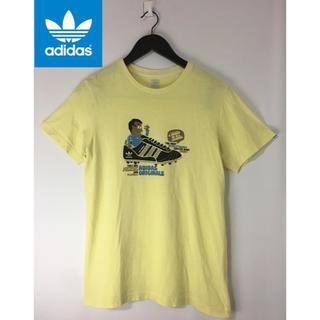 アディダス(adidas)のadidas アディダスオリジナルス 半袖プリントTシャツ イエロー 黄色 S(Tシャツ/カットソー(半袖/袖なし))