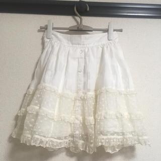 リズリサ(LIZ LISA)のチュールレーススカート リズリサ(ひざ丈スカート)