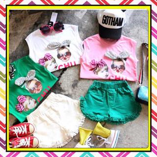 子供服 CHU Tシャツ 女の子 リボン GKAMGKAM(Tシャツ/カットソー)