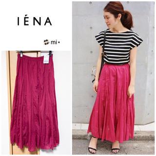 IENA - 新品タグ付き⭐️ IENA コットンボイル ギャザーパネルスカート ピンク