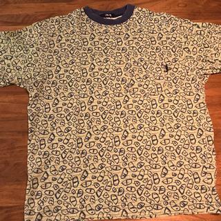 ステューシー(STUSSY)のstussy ヴィンテージ 総柄 ポケT(Tシャツ/カットソー(半袖/袖なし))