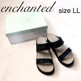 【処分価格!】enchanted  エンチャンテッド 黒 サンダル キラキラ(サンダル)