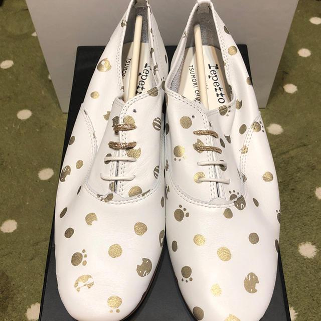 repetto(レペット)のレペット×ツモリチサト コラボシューズ プチキャットドットシューズ レディースの靴/シューズ(ローファー/革靴)の商品写真