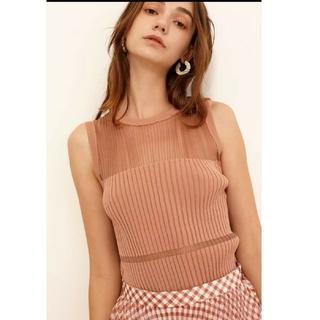 ルシェルブルー(LE CIEL BLEU)のルシェルブルー 即完売 Transparent Sleeveless Knit(ニット/セーター)