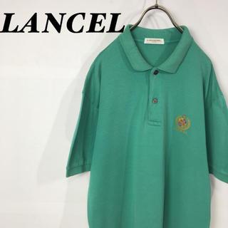 ランセル(LANCEL)の古着 LANCEL ゴールド刺繍ロゴ 半袖 ポロシャツ ライングリーン(ポロシャツ)