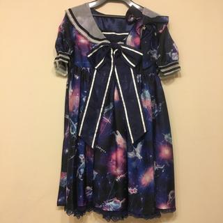 Angelic Pretty - Dremy  Planetarium ワンピース リボンクリップ オーバーニー