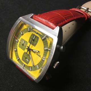ポールスミス(Paul Smith)のレア‼︎ポールスミス クロノグラフウォッチ イエローフェイス 電池交換済 良品(腕時計(アナログ))