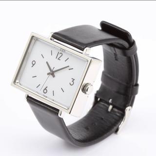 ムジルシリョウヒン(MUJI (無印良品))の新品★無印良品★腕時計・駅の時計 黒革 MJ‐SCW1 レディース  メンズ(腕時計)