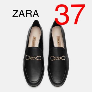 ZARA - ZARA ザラ レザーローファー フラットシューズ