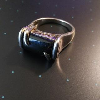 ディオール(Dior)のsilver925 Blackstone Ring(リング(指輪))