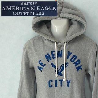 アメリカンイーグル(American Eagle)の【AMERICAN EAGLE】 美品 アメリカンイーグル グレーパーカ  XS(パーカー)