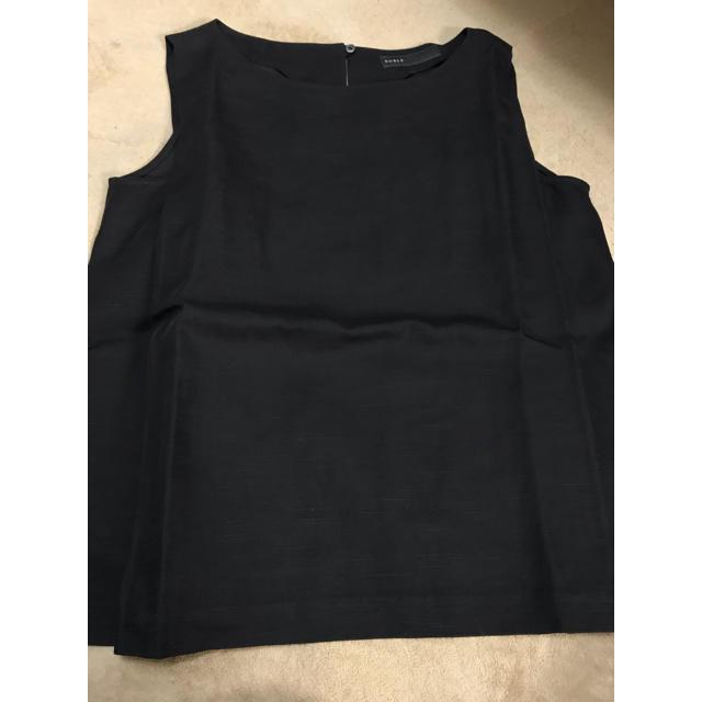 Noble(ノーブル)のスラブカルゼノースリーブブラウス レディースのトップス(シャツ/ブラウス(半袖/袖なし))の商品写真