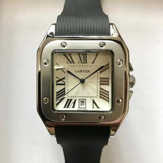Cartier - 腕時計 サントス ドゥ カルティエ ラバーベルト