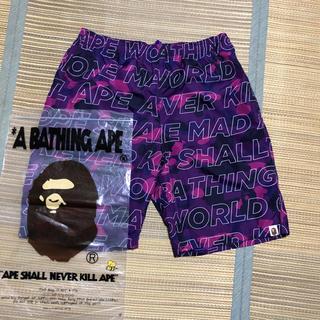 アベイシングエイプ(A BATHING APE)のAPE BAPE camo 迷彩 パンツ ショーツ ハーフパンツ tシャツ  L(ショートパンツ)