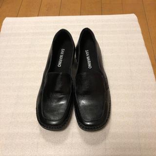 新品✴︎SAN  MARINO 本革 ローファー パンプス(ローファー/革靴)