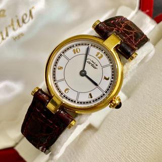カルティエ(Cartier)の希少 カルティエ マスト ヴァンドーム 腕時計 SM アラビア文字盤 稼動確認済(腕時計)