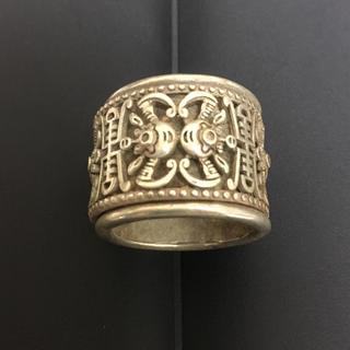 アンティーク 年代物 古銀 銀製 指輪 吉祥文様 レア シルバー リング 一点物(リング(指輪))