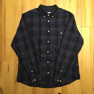THE NORTH FACE - ノースフェイス ネルシャツ ネイビーブルー XL