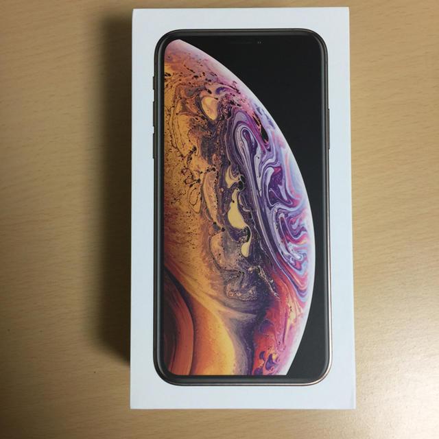 iPhone(アイフォーン)のiPhone xs GOLD 新品未使用  SIMロック解除済み 64GB  スマホ/家電/カメラのスマートフォン/携帯電話(スマートフォン本体)の商品写真