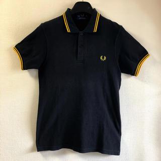 FRED PERRY - フレッドペリーポロシャツ ディップライン Mサイズ 黒 38 パンクス スキンズ