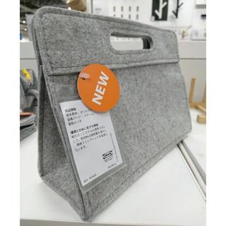 イケア(IKEA)のイケア♡IKEA バッグンバック グレー  クナッルボーゲ (トートバッグ)