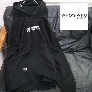 WHO'S WHO gallery - 新品 フーズフーギャラリー SOURCREAM ボックスロゴパーカー ブラック