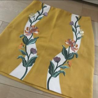 Lily Brown - LilyBrown 刺繍フラワー台形スカート