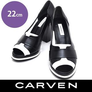 カルヴェン(CARVEN)のカルヴェン オープントゥ サンダル パンプス 22(サンダル)