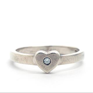 Tiffany & Co. - ティファニー クラウンオブハート  シルバー ダイヤモンド リング