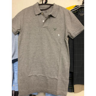 アメリカンイーグル(American Eagle)の新品★アメリカンイーグル ポロシャツ グレー XS(ポロシャツ)