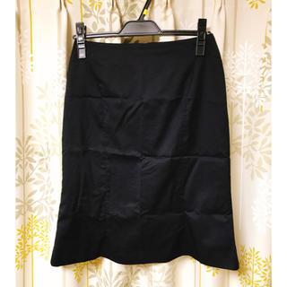 イネド(INED)のINEDイネド   ネイビーフレアひざ丈スカート9号 Mサイズスーツ  タイト(ひざ丈スカート)