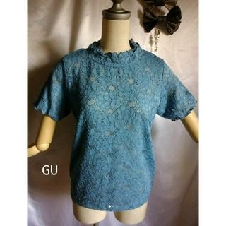 ジーユー(GU)のジーユー レーストップス(カットソー(半袖/袖なし))