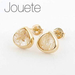 ete - 【Jouete】K10YG ルチルクォーツピアス