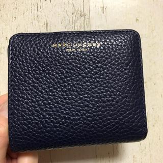 マークジェイコブス(MARC JACOBS)のマークジェイコブス☆二つ折り財布 ネイビー(財布)