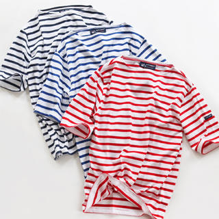 SAINT JAMES - SAINT JAMES ピリアック バスクボーダーTシャツ