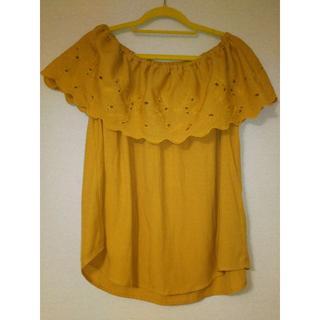 ジーユー(GU)の袖なしフリルブラウス(シャツ/ブラウス(半袖/袖なし))