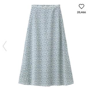 ジーユー(GU)のGU花柄ロングスカート(ロングスカート)