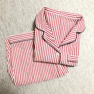 美品 GU パジャマ ストライプ 赤 長袖