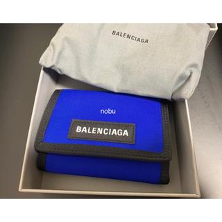 バレンシアガ(Balenciaga)の新品【 Balenciaga 】 Explorer Wallet 財布 ブルー(折り財布)