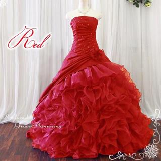 ウエディング カラードレス レッド ブライダル